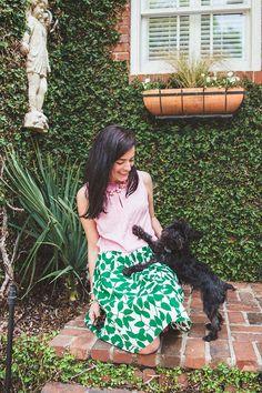 #dresscolorfully our garden leaves poplin skirt