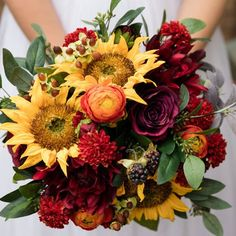 For an autumn bouquet full of gorgeous silk sunflowers follow this simple DIY by Pumpkin and Pye. Step 1: Pick out your favorite fall flowers. This bouquet fea