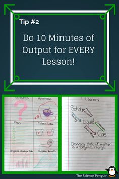 """Do 10 Minutes of Output for EVERY Lesson! -- Output, or silent independent student reflection time, is so important at the end of a lesson. Last year, my classes made """"I Learned"""" pages with what they learned during the lesson. During this time, I walk around and check for understanding by scanning their I Learned pages. I also check in with my struggling learners. Output is great because students have CHOICE about what they include on their pages."""