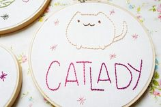 Cat Lady Embroidery   10 Purrrrrfect Cat-Themed DIY Projects