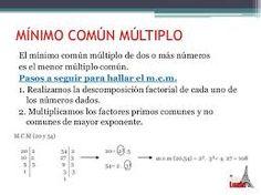 Resultado de imagen para imagenes minimo multiplocomun