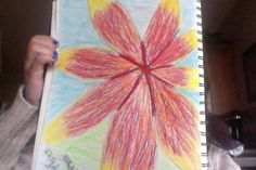drew a bigger flower that covers the whole page :) It's hard taking pictures on the laptop :P *No reins please Big Flowers, Taking Pictures, My Drawings, My Arts, Laptop, Painting, Painting Art, Paintings, Painted Canvas
