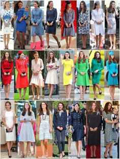 All of the outfits that Catherine wore on the NZ/Australian tour. The navy military dress, however, was not one of them.