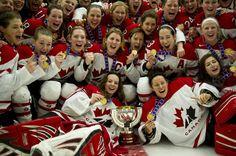 gold medalists again. Olympic Hockey, Women's Hockey, Hockey Girls, Hockey Players, Soccer, Capital Of Canada, O Canada, Canadian Forest, Team Activities