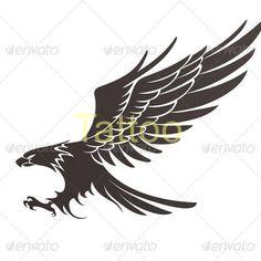 Small Wolf Tattoo, Small Flower Tattoos, Hahn Tattoo, Wing Tattoo Arm, Tribal Animal Tattoos, Eagle Tattoos, Bird Tattoos, Watercolor Tattoo Tree, Badass Drawings