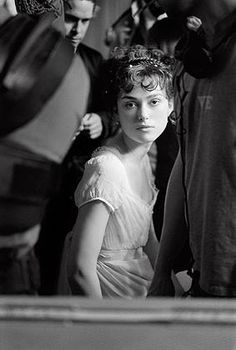 "Keira Knightley on the set of ""Pride and Prejudice"" photographed by Greg Williams Keira Knightley, Keira Christina Knightley, Elizabeth Bennett, Ms Elizabeth, Greg Williams, Jane Austen Movies, Pride And Prejudice 2005, Becoming Jane, Matthew Macfadyen"