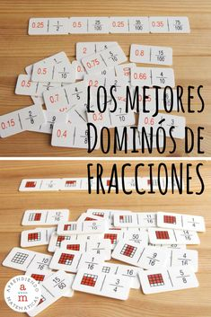 DESCUBRE los mejores dominós de fracciones, para entender las fracciones jugando. Montessori Materials, Infant Activities, Fractions, Math Games, Teaching Math, Middle School, Homeschool, Classroom, Teacher