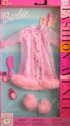 Amazon.com: Barbie Lingerie Fashion Avenue Clothes w Faux Fur (2002): Toys & Games