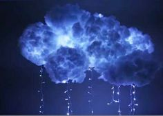 DIY cloud light. Great for a sensory room!