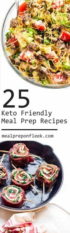 25 Keto Friendly Meal Prep Recipes