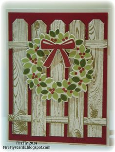 I'm having fun playing with some of the new holiday stamps. The combination of the Wondrous Wreath stamp set and the Wonderful Wreath Thinlits, made this project very easy - no fussy cutting this time.