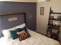 Our guest bedroom! Repurpose a Ron of stuff and you'll be surprised at what you can come up with!