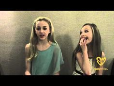 Chloe & Maddie of Dance Moms share a funny TCA Zac Efron Story Exclusively with Sally Miller Fans haha