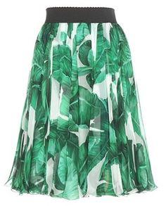 Dolce & Gabbana Jupe Plissée En Soie Imprimée