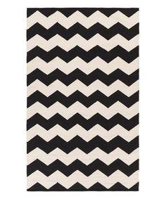 Loving this Black & White Vogue Collins Rug on #zulily! #zulilyfinds