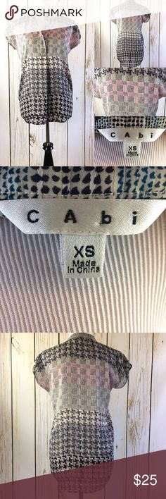 Cabi houndstooth size small high low blouse Cabi houndstooth size small high low blouse CAbi Tops Blouses