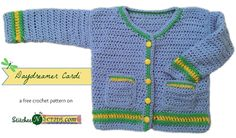 This post includes a crochet roundup of 10 free baby cardigan patterns. This Free Pattern Collection was requested by Linda, who was searching for baby sweater patterns for babies aged months. Crochet Baby Sweater Pattern, Crochet Baby Sweaters, Baby Sweater Patterns, Crochet Baby Clothes, Crochet Patterns, Blanket Patterns, Crochet Bebe, Crochet For Boys, Free Crochet