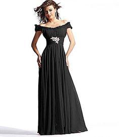 Scala Off-the-Shoulder Gown | Dillards.com