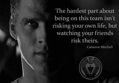 Stargate SG-1 moving quote when Daniel risks his life and Vala feels powerless