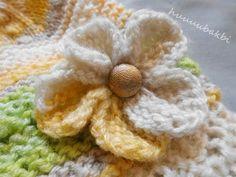 haroşa çiçek,knit flower