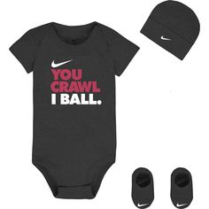 Nike Newborn Boys You Crawl I Ball Three Piece Set 06 Months >>> Be sure to check out this awesome product. (This is an affiliate link) Baby Boy Clothes Nike, Baby Boy Nike, Newborn Boy Clothes, Baby Outfits Newborn, Cute Baby Clothes, Baby Boy Newborn, Baby Boy Outfits, Kids Outfits, Babies Clothes