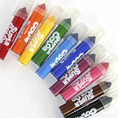 Jumbo Felt Pens {10}. Washable and can make both fine or thick strokes. Bright, fun colors!