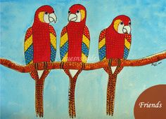 Friends - Gond Painting