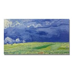 Trademark Fine Art Wheatfields Under Thundercloud by Vincent van Gogh Canvas Wall Art 24x47Inch >>> Be sure to check out this awesome product. (This is an affiliate link)