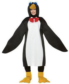 Unisex Penguin Costume Mens Aquarium Jumpsuit Animal Zoo Party Book Week Outfits
