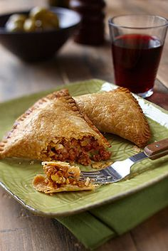 Ontario Veal Empanadas   These savoury and portable pastries are stuffed with cumin spiced Ontario veal and baked until golden. Using pre-rolled pastry makes this healthy, filling meal a quick and easy weeknight option.