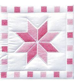 Jack Dempsey Stamped White Quilt Blocks xxx Stars at Joann.com