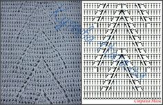 Crochet Chart, Crochet Motif, Crochet Stitches, Crochet Top, Crochet Patterns, Stitch Patterns, Knots, Diy And Crafts, Projects To Try