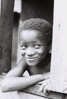 A cheekish grin...