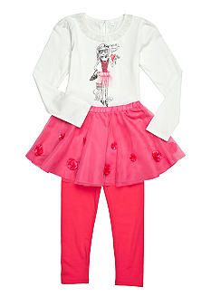 DKNY Snow Flower Tutu Set-Holiday 12'