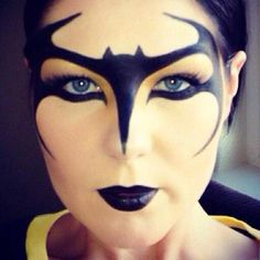 Batman makeup mask for Halloween! Cool!