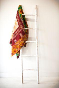 MAROON AND GOLD Kantha Quilt, Quilts, Ladder Decor, Gold, Vintage, Home Decor, Decoration Home, Room Decor, Quilt Sets