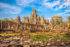 Bayon temple Angkor Wat Cambodia South East Asia. by kasto80