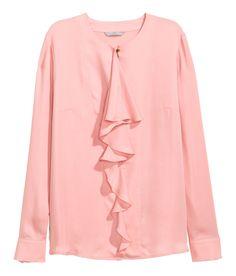 Pink Ruffled Blouse | H&M Modern Classics