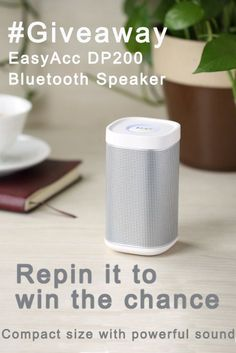 DP200 is one of the best Bluetooth speakers of EasyAcc for its elegant shape and quality sound. Repin it to win this chance!