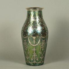 jarrn plateado johann loetz vidrio antiguo vendido archivo recursos