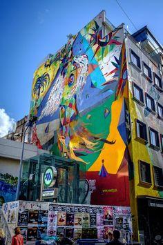 BIBO restaurant in hong kong furnished with street art Murals Street Art, Street Art Graffiti, Street Art Love, Art Rules, Sculpture, Street Artists, Urban Art, Installation Art, Love Art