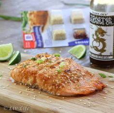 Asian Sesame Salmon by livlifetoo #Salmon #Asian #Healthy #Easy