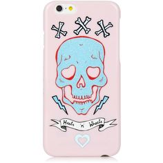 iPhone 6/6S Clio Peppiatt Pink Skull Case ($26) ❤ liked on Polyvore featuring accessories and tech accessories