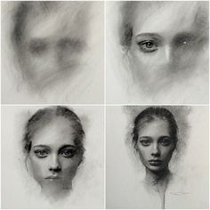Artist: Casey Baugh ~ Charcoal progression. (Values first. 5 hours):