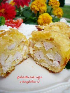 muffinformában sült fokhagymás csirkemell (Gm)