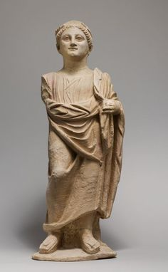 Limestone statue of a male votary. Period: Late Hellenistic. Date: 2nd–1st century B.C. Culture: Cypriot.