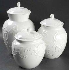 Lenox Opal Innocence Carved 3-Piece Canister Set