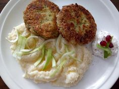 Kelové karbonátky - recept Cauliflower, Chicken, Vegetables, Food, Diet, Cauliflowers, Essen, Vegetable Recipes, Meals