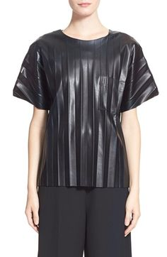 Alexander Wang Crinkled Faux Leather Tee available at #Nordstrom