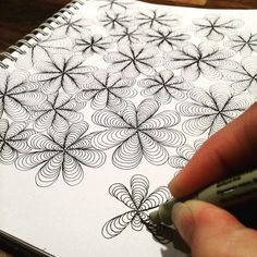 Learn to draw comics cartoon doodle drawings как рисовать, р Zentangle Drawings, Doodles Zentangles, Doodle Drawings, Doodle Art, Easy Drawings, Zen Doodle, Tangle Doodle, Tangle Art, Doodle Patterns